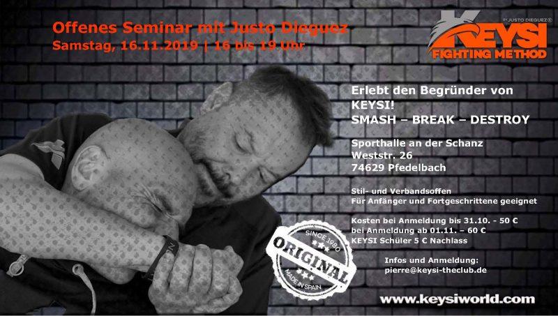Offenes Seminar in Pfedelbach, November 2019 @ Sporthalle an der Schanz | Öhringen | Baden-Wurtemberg | Alemania